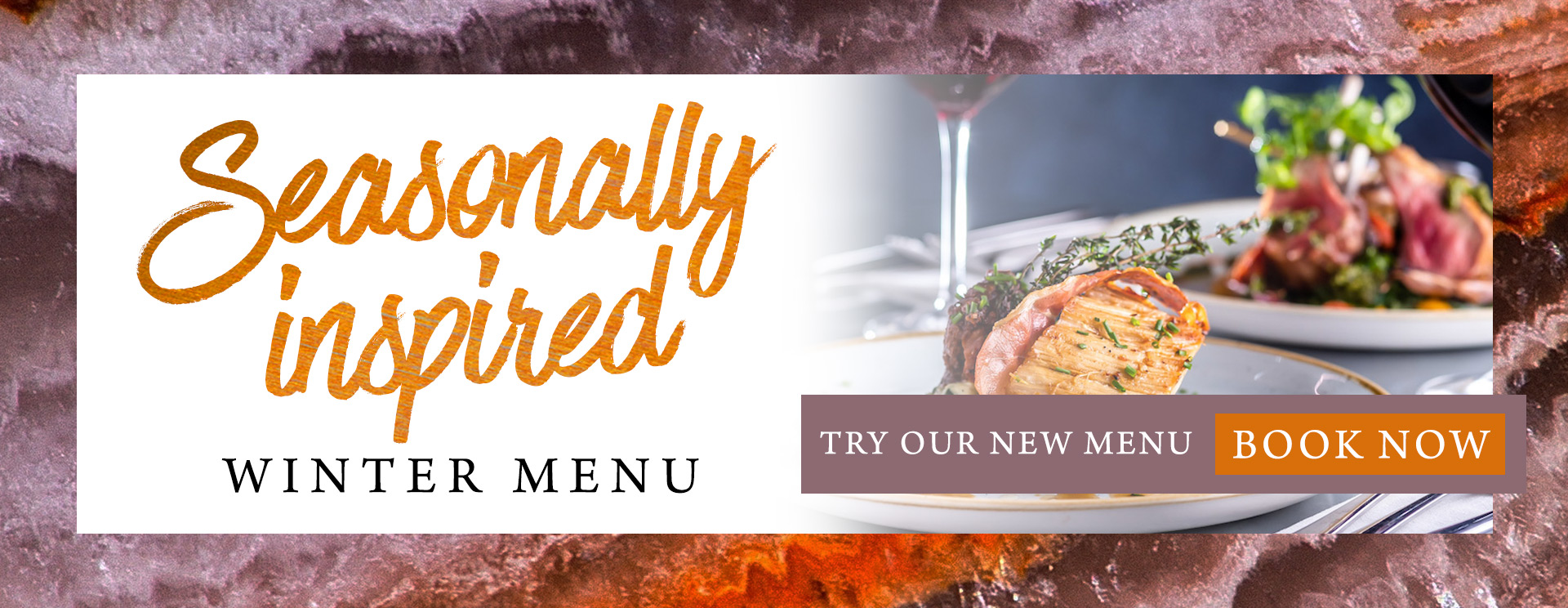 Our new winter menu at The Horse & Groom