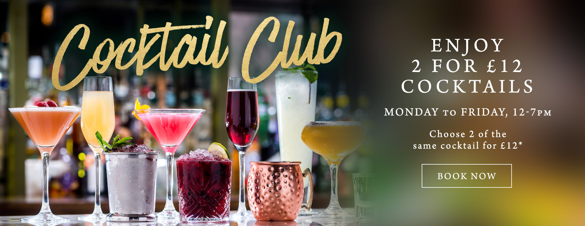 2 for £12 cocktails at The Horse & Groom